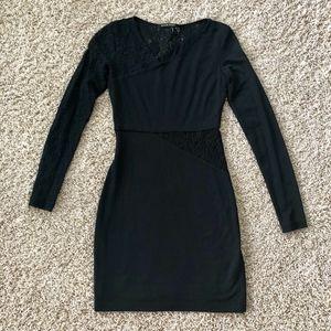 Black Halo Black Dress with Lace Cutout Detail XS